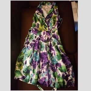 Jones Studio Vibrant Faux Wrap Dress size 4